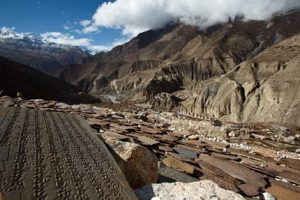 Looking to Phu village form the main Gompa
