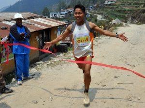 Bed Bahadaur Sunuwar finishing first