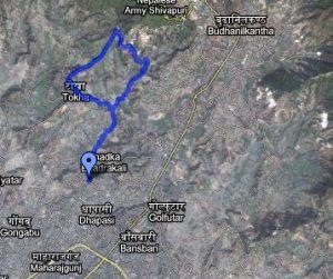 tokha-kathmandu-morning-run-running-route-map