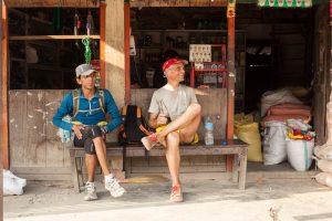 Roger Henke on his last trail run in Nepal