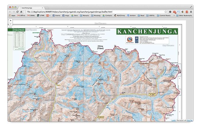 kanchenjunga-map-online
