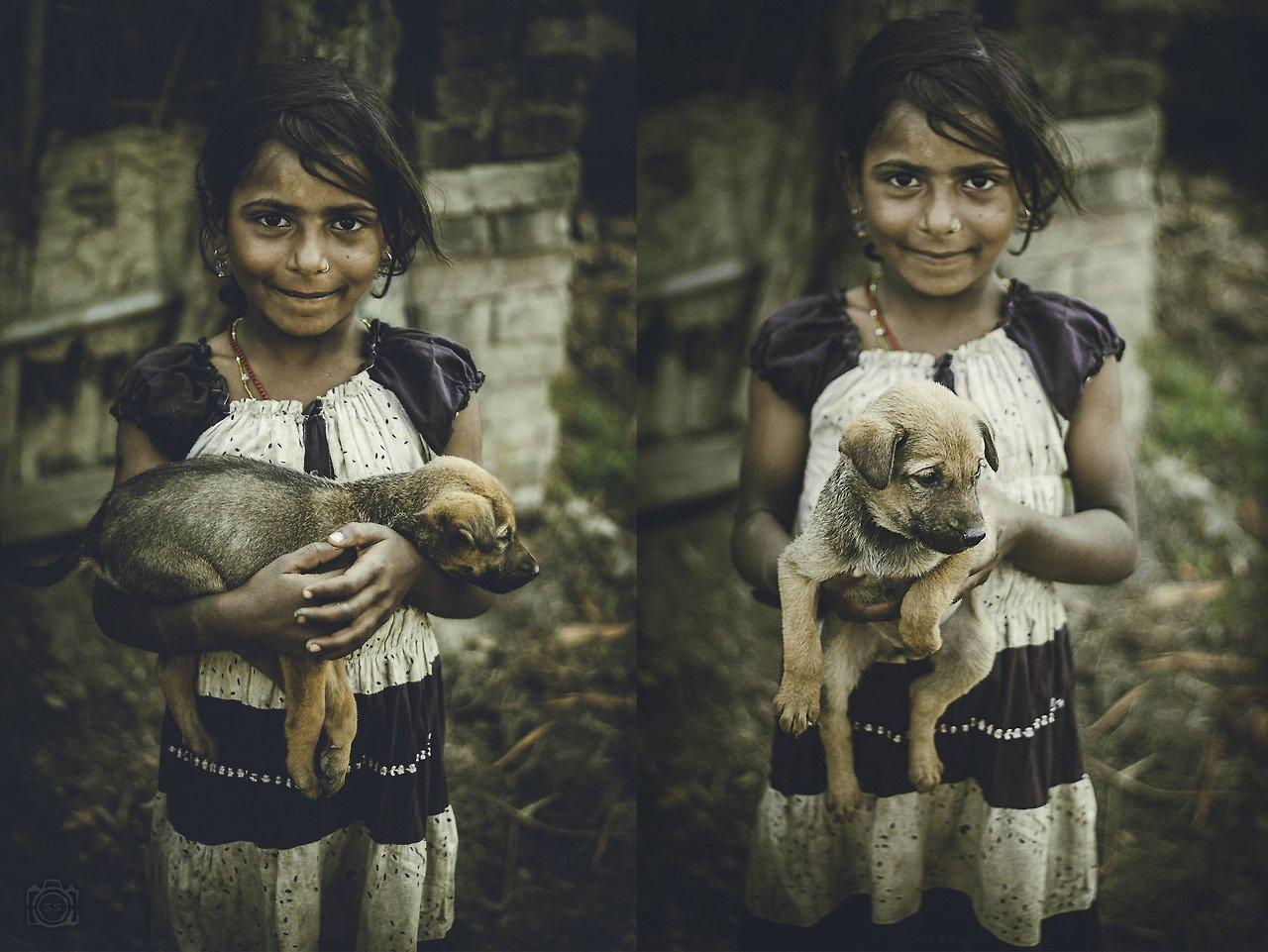 girl puppy nepal shashank shrestha