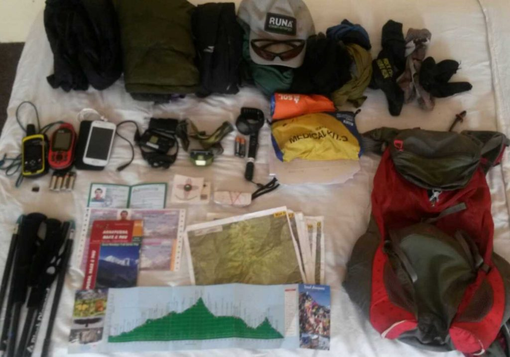 annapurna circuit trek fastest known time fastpack kit