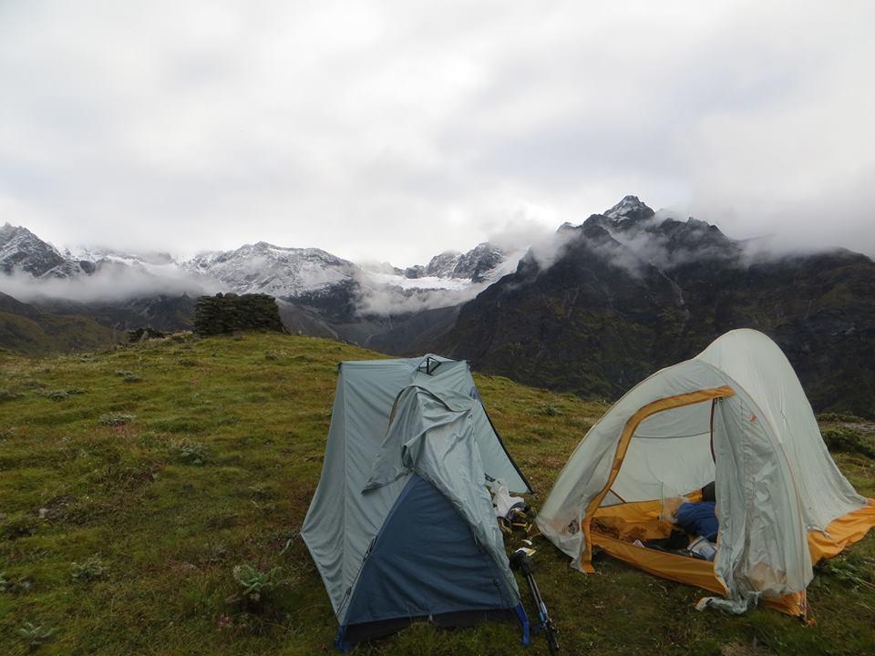 nepal fastpacking Langtang Ganja La camp