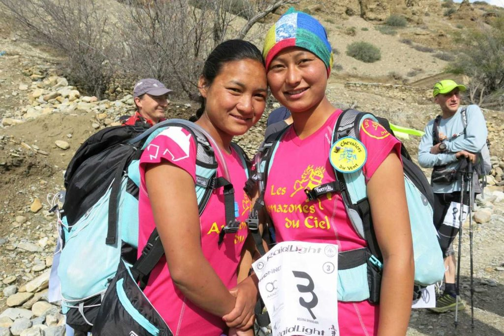 female runners in Nepal