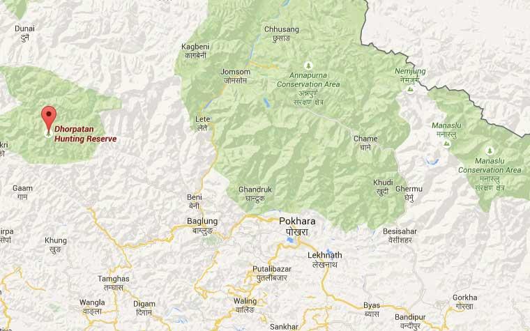 dhorpatan-map-from-pokhara | Trail Running Nepal