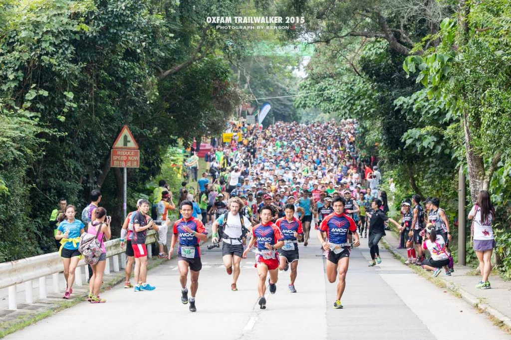 Hong Kong Trail walker start 2015