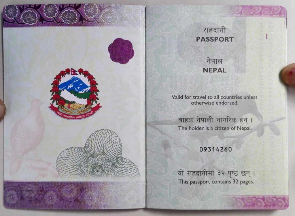 nepal passport