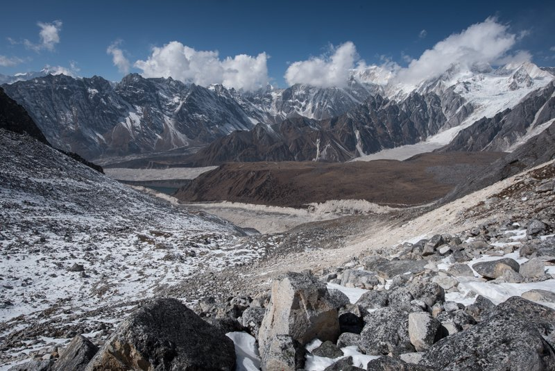 Four glaciers, Larkya La