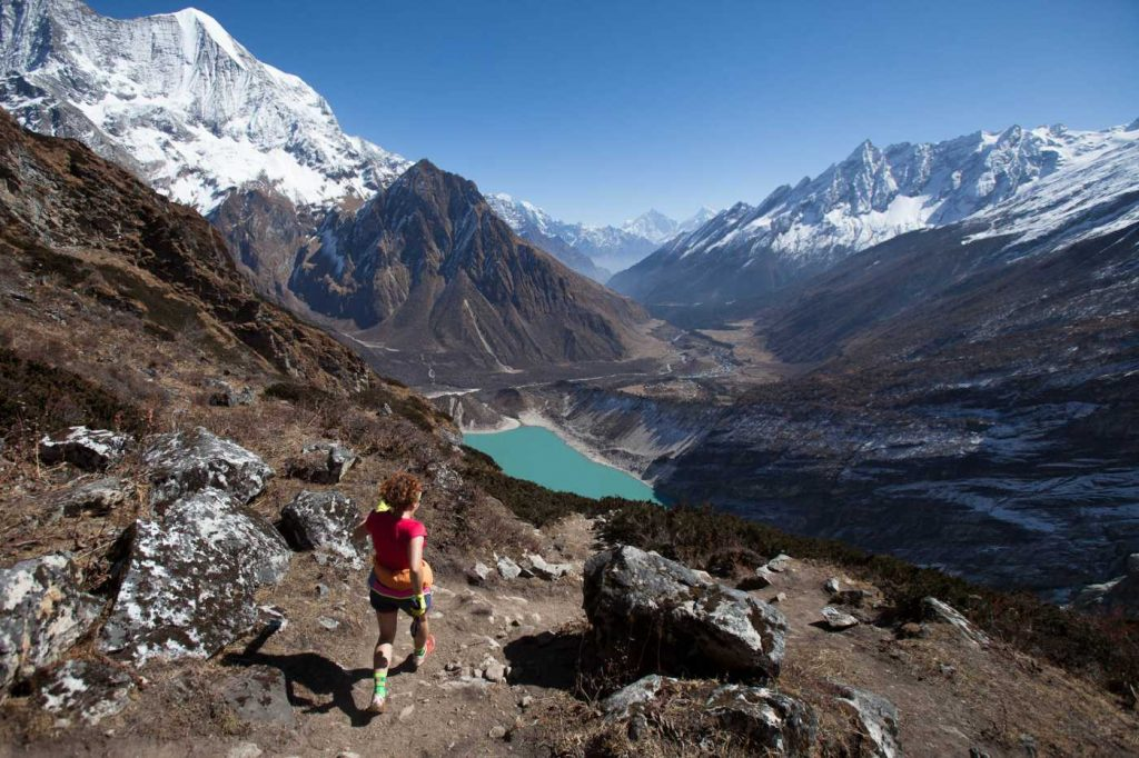 Stage trail race in Nepal