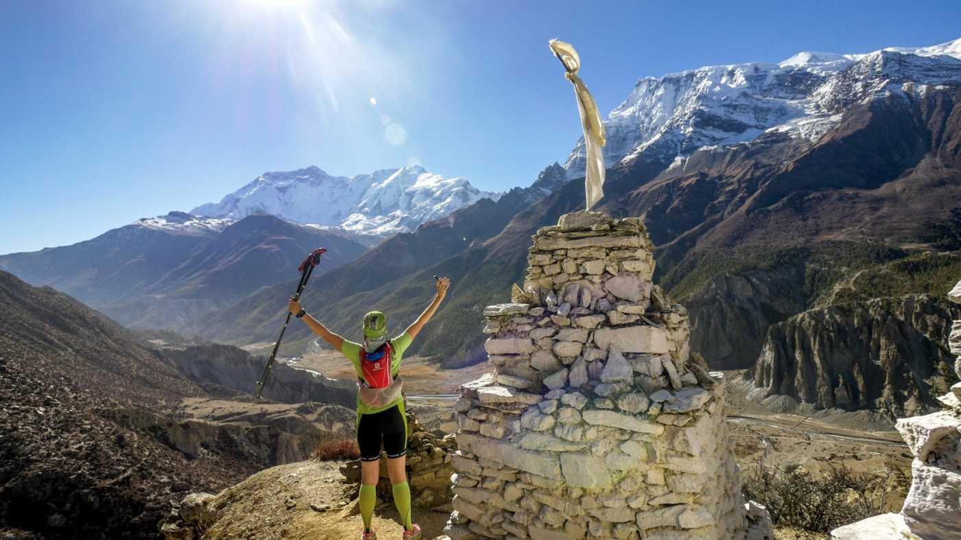 Annapurna running trail view