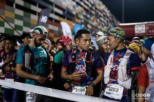 Nepal athletes start line
