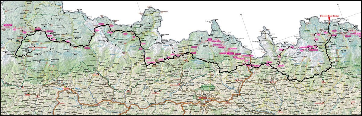 Himal-Race-2020 route